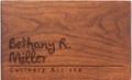 Signature Personalized Cherry 4x6 Recipe Card Box