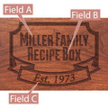 Banner Year Personalized Cherry 4x6 Recipe Card Box