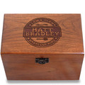 Barbecue King Personalized Cherry 4x6 Recipe Card Box