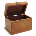 Classic Filigree Personalized Cherry 4x6 Recipe Card Box