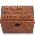 Garden Love Personalized Cherry 4x6 Recipe Card Box