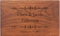 Ironwork Personalized Cherry 4x6 Recipe Card Box