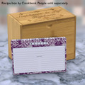 Personalized 4x6 Recipe Card Lace Settings Plum Purple 40ea