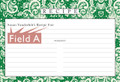 Personalized 4x6 Recipe Card Lace Settings Forest Green 40ea