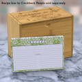 Personalized 4x6 Recipe Card Lace Settings Avocado Green 40ea