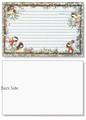 4x6 Winter Chickadees Recipe Card