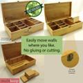 Appetizers Filigree Multikeep Organizer Bamboo Box