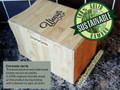 Large Utensil Caddy - Adjustable Bamboo Wood Spoon Holder