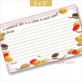 3 x 5 Cookie Crumbles Recipe Card
