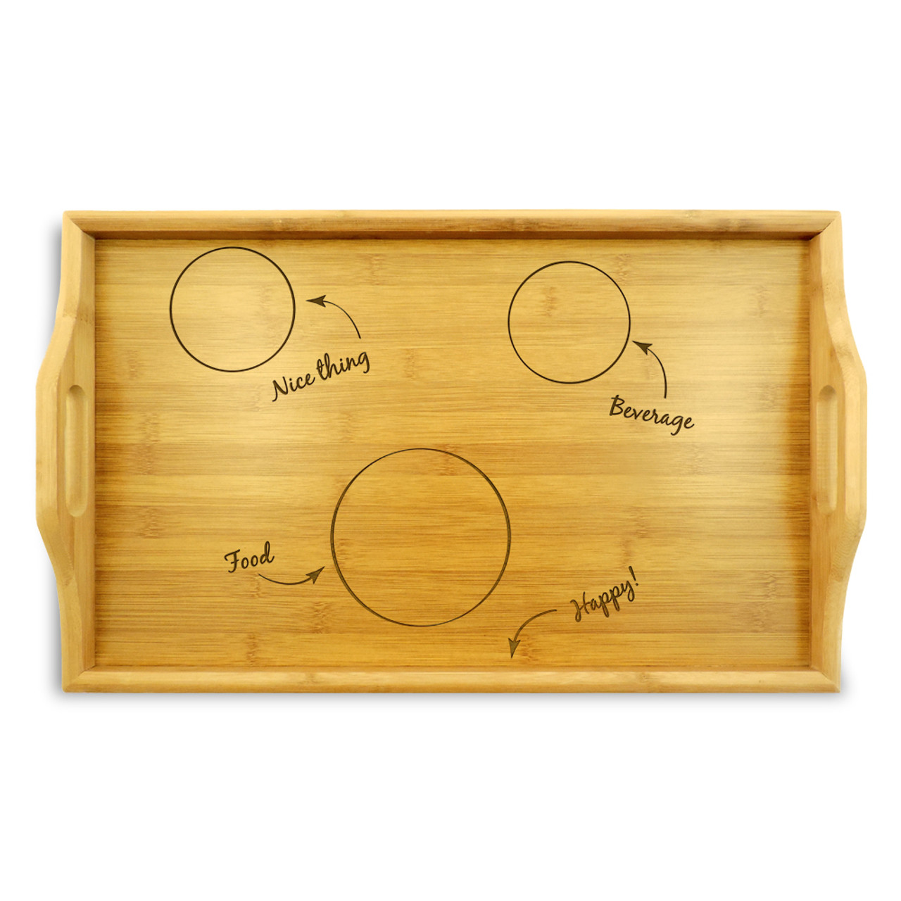 Bamboo Tray With Diy Breakfast In Bed Design. Order Online