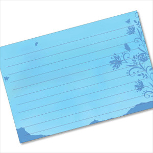 4x6 note card