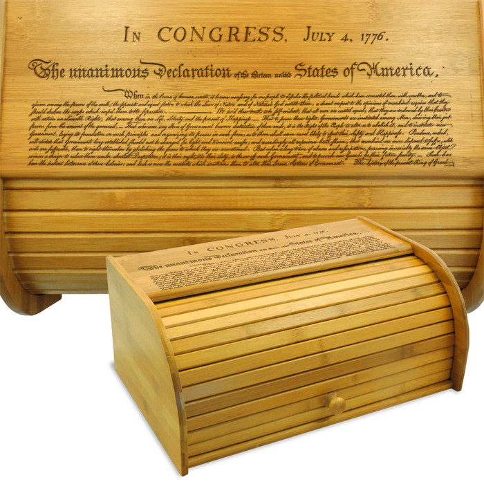 Declaration of Independence Breadbox