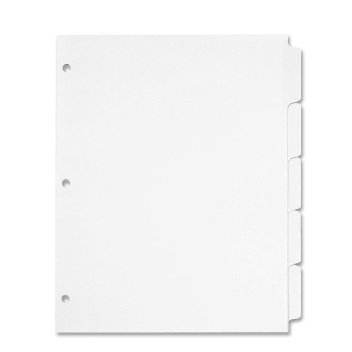 Half Page Cookbook Tab Dividers - 5 ea