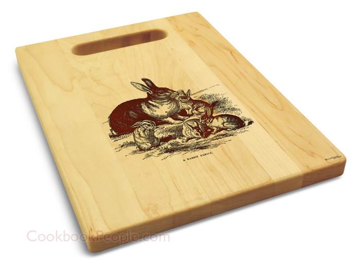 Maple Rabbit Cutting Board Personalized