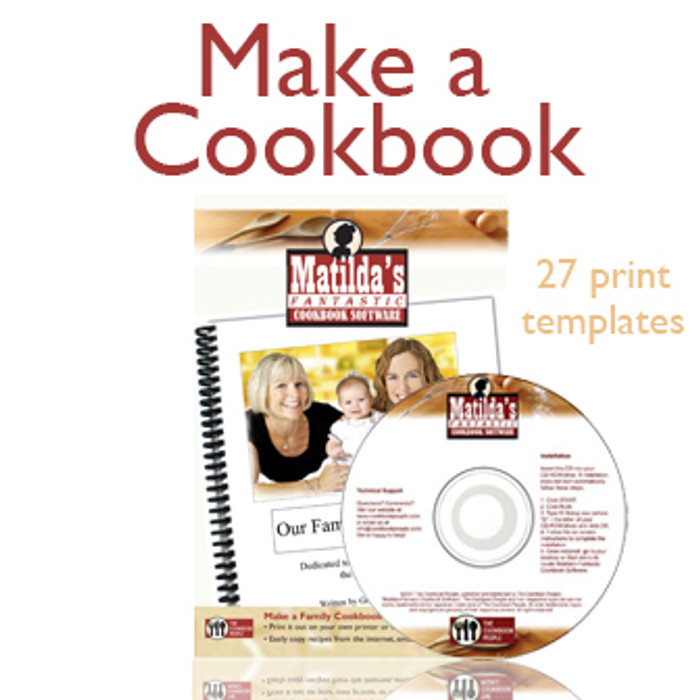 Matilda's Fantastic Cookbook Software (CD or Download)