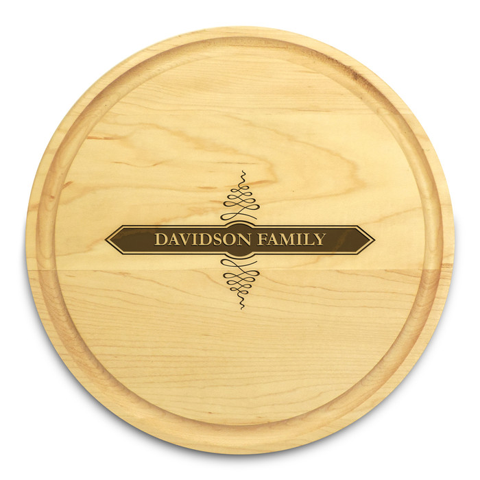 Apothecary 10in Round Maple Cutting Board with Juice Groove