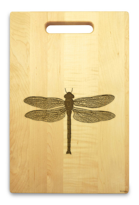Dragonfly 10x16 Handle Engraved Cutting Board