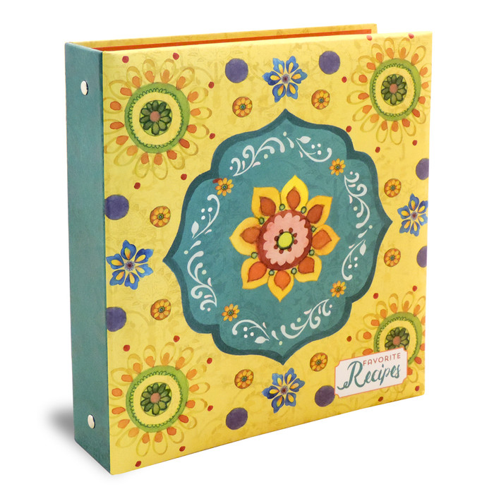 retro and functional 4x6 flower power recipe card binder