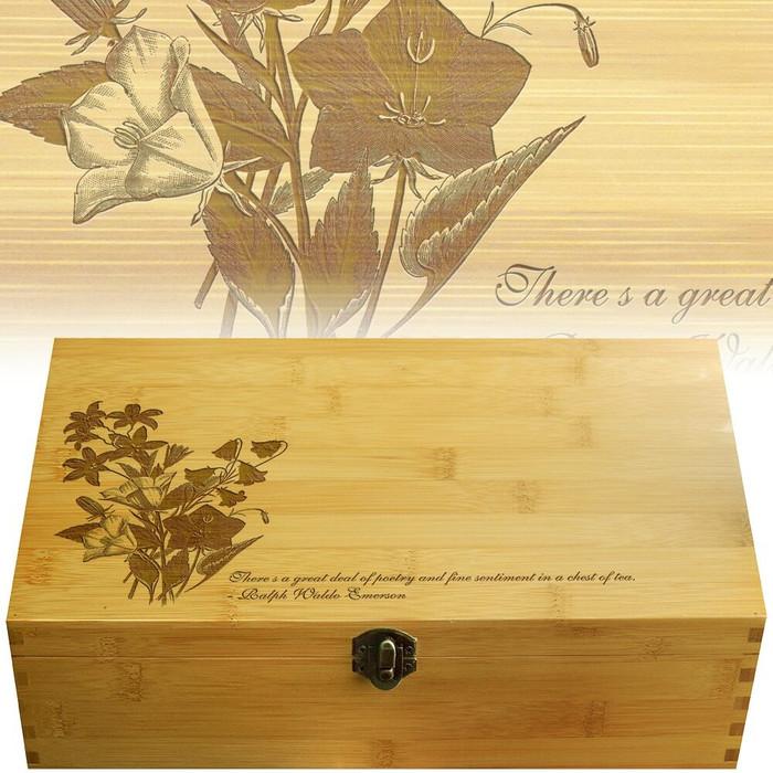 Bellflower Bamboo Multikeep Wood Box