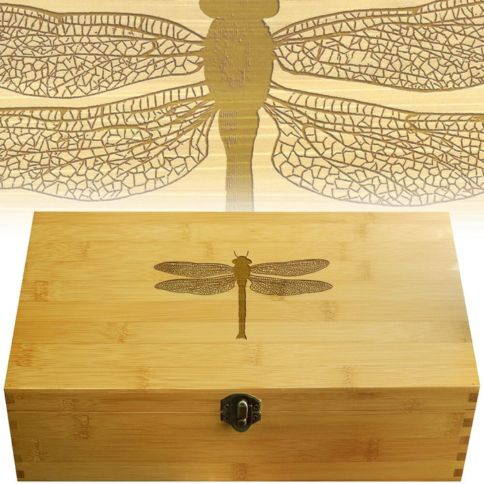 Dragonfly Wood Multikeep Organization Box
