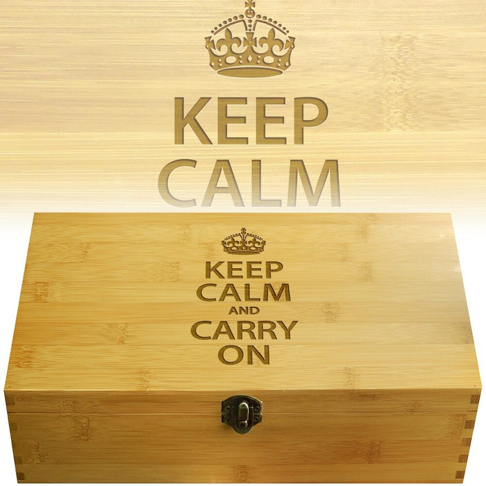 Keep Calm Engraved Multikeep Box
