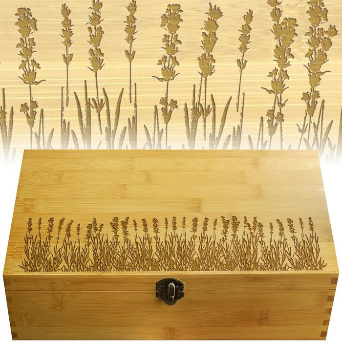 Lavender Wood Multikeep Organization Box