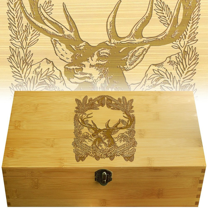 Pinetree Deer Engraved Multikeep Box