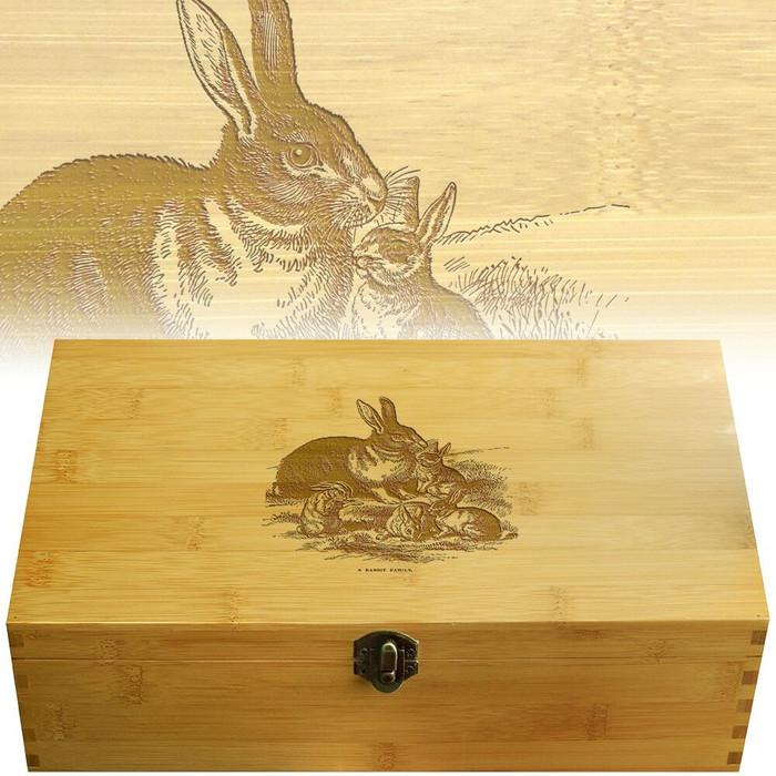 Rabbit Bamboo Multikeep Wood Box