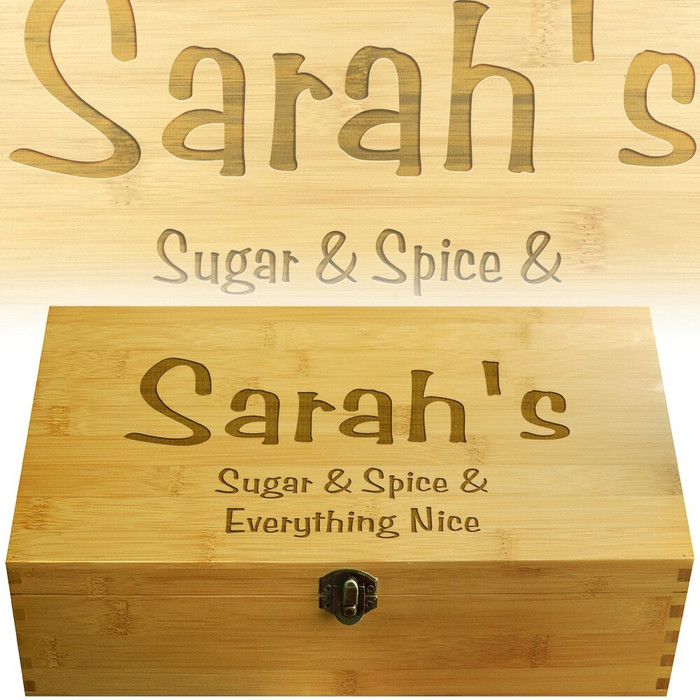 Sugar Spice Frisky Multikeep Tea Box