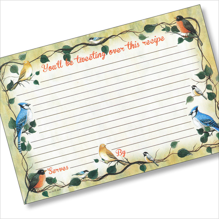 4x6 Tweetie-Pies Recipe Card
