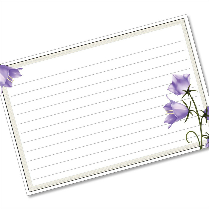 4x6 Recipe Card Bluebells Beautiful Purple 40ea