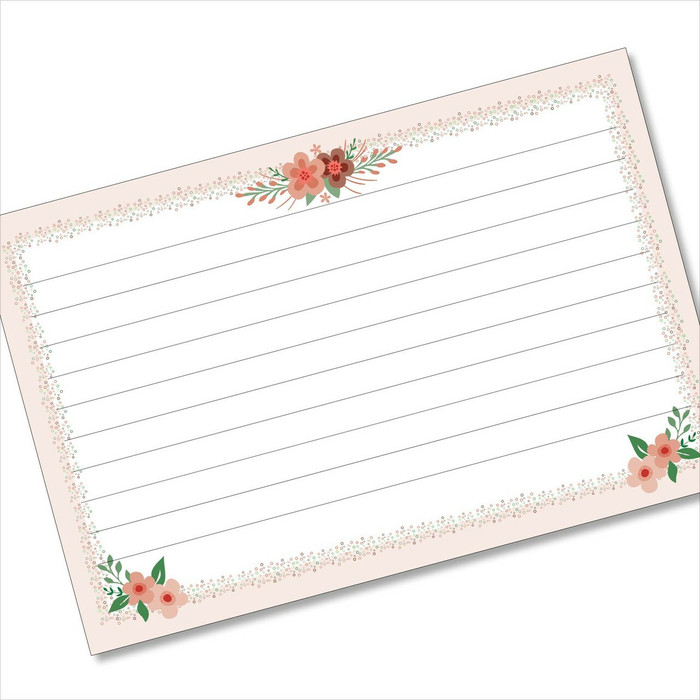 4x6 Recipe Card Cute Little Flowerlets Pink 40ea