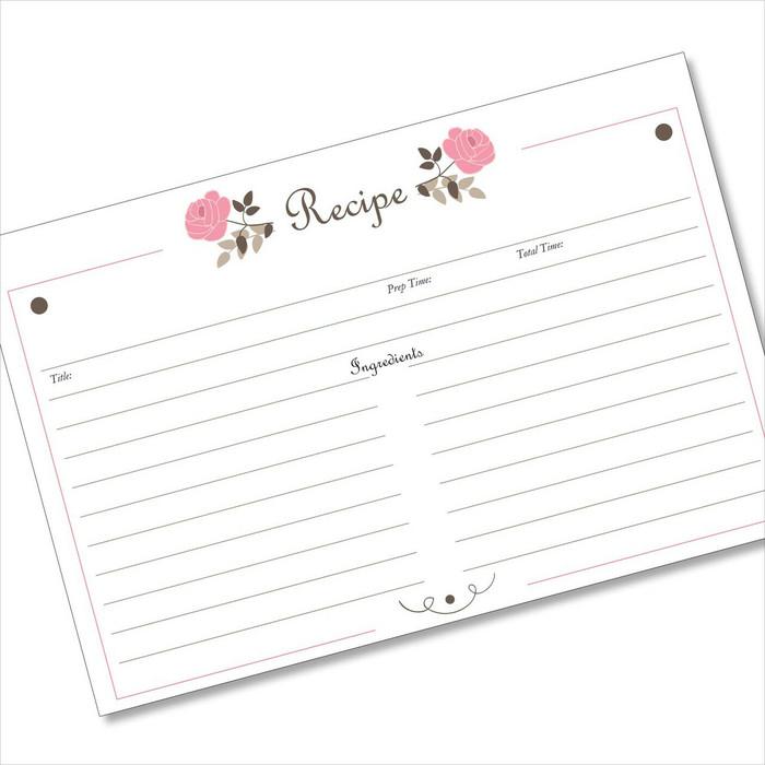 4x6 Recipe Card Classic Pink Rose 40ea