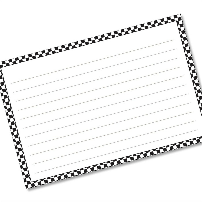 4x6 Recipe Card Black Checkers Index Card or Gift Card or  40ea
