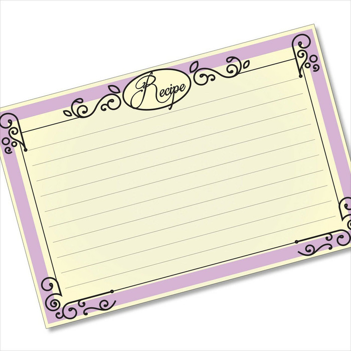 Ironworks Frame Purple Elegant Recipe Card Design -Largest Card ...