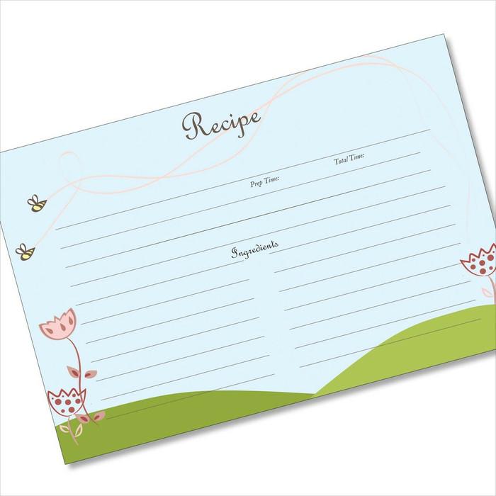 4x6 Recipe Card Bee Swoops Blue 40ea