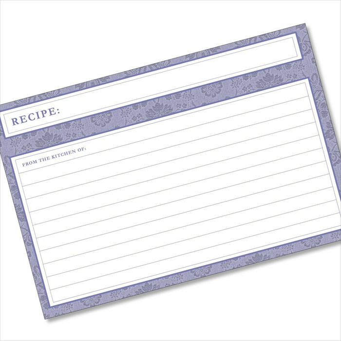 4x6 Recipe Card Agatha Navy Blue 40ea