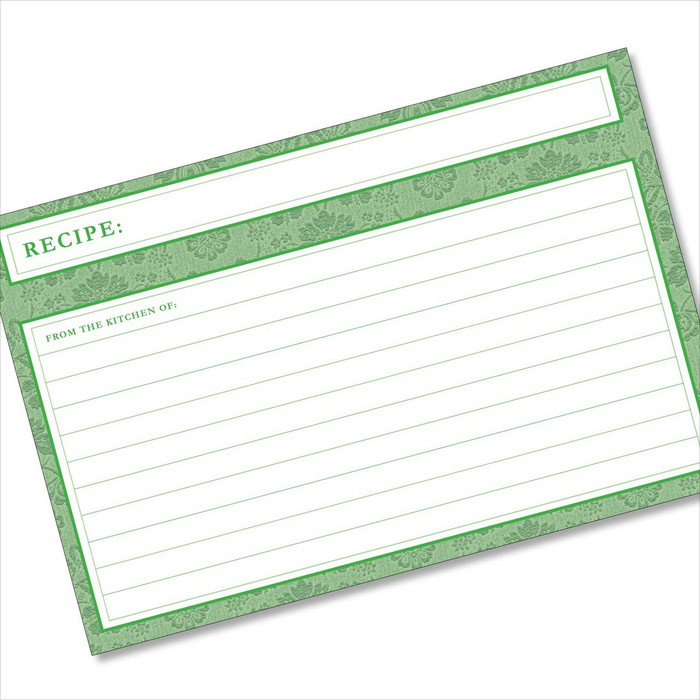 4x6 Recipe Card Agatha Leafy Green 40ea