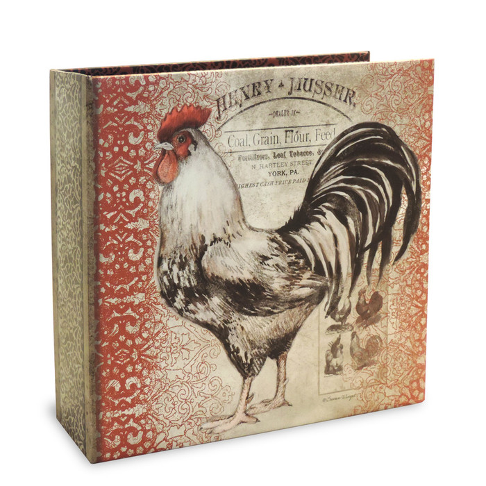 Half Page Recipe Organizer - Cardinal Rooster