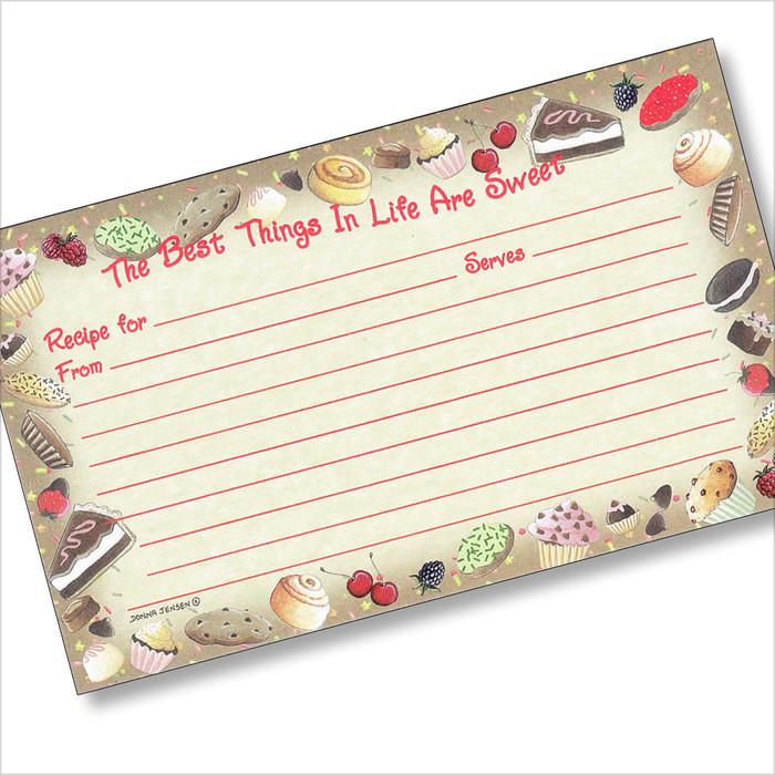 3x5 Sweet Treats Recipe Card