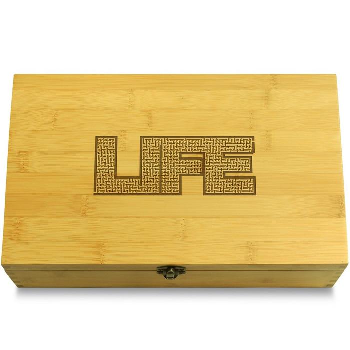 Maze Boy Multikeep Box Wood Chest