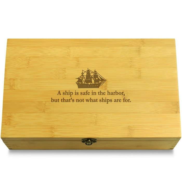Ship Harbor Quote Organizer Box Lid