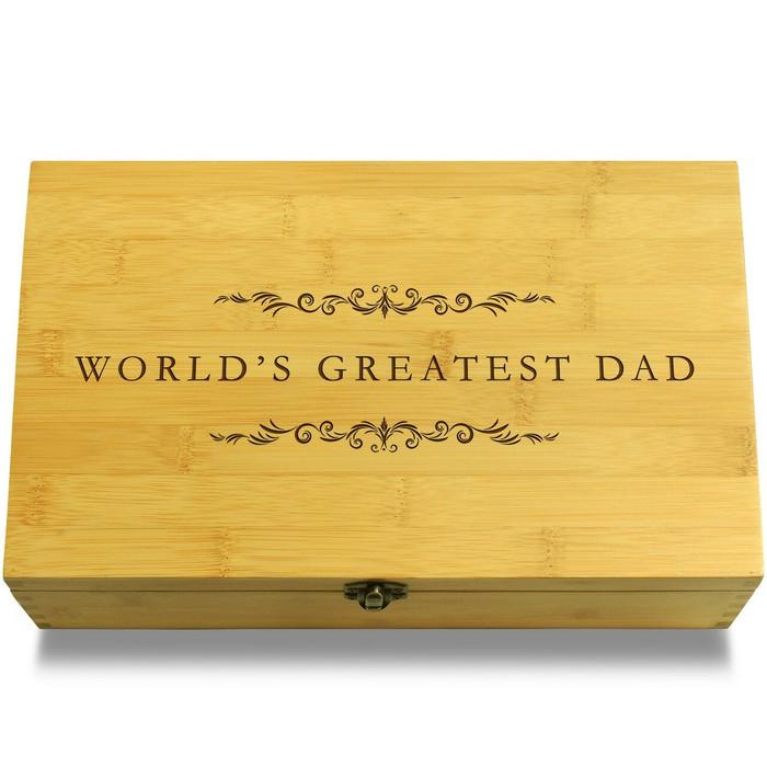 World's Best Dad Filigree Chest Lid