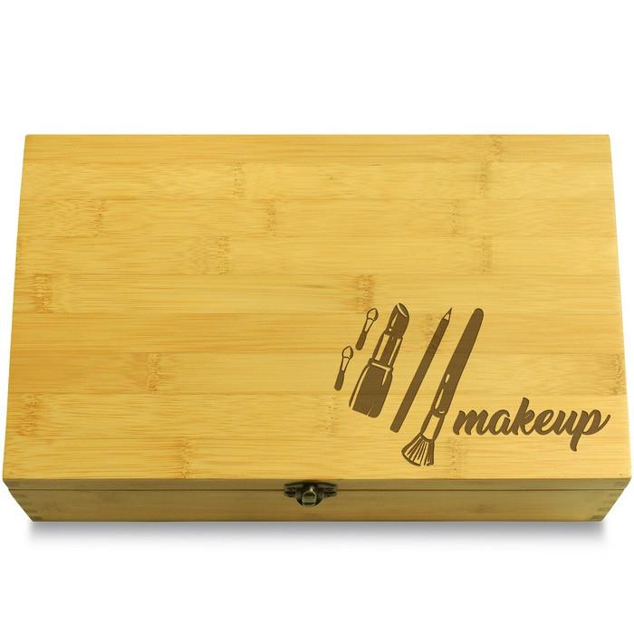 Makeup Mix Wood Chest Lid