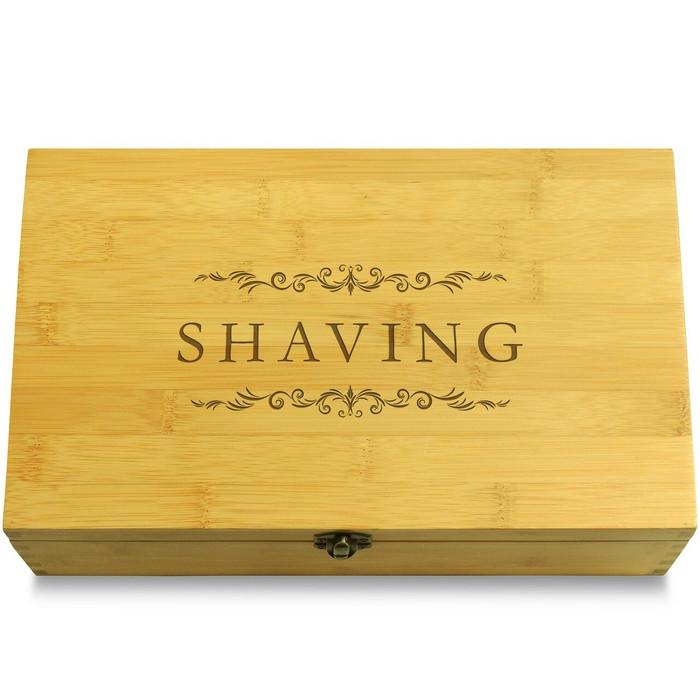 Shaving Necessities Bathroom Multikeep Box Light Wood Organizer