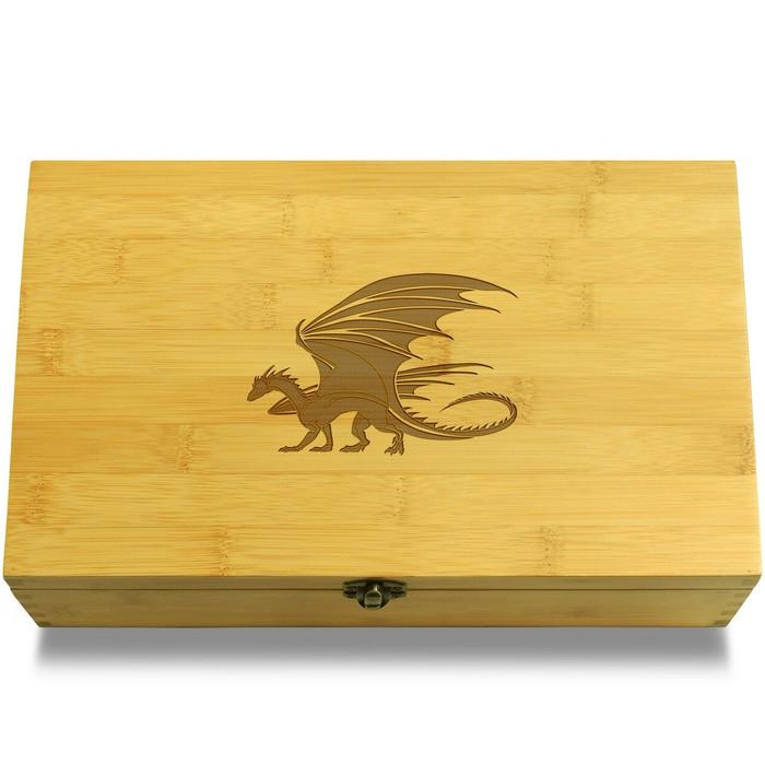 Black Dragon Wooden Box Lid