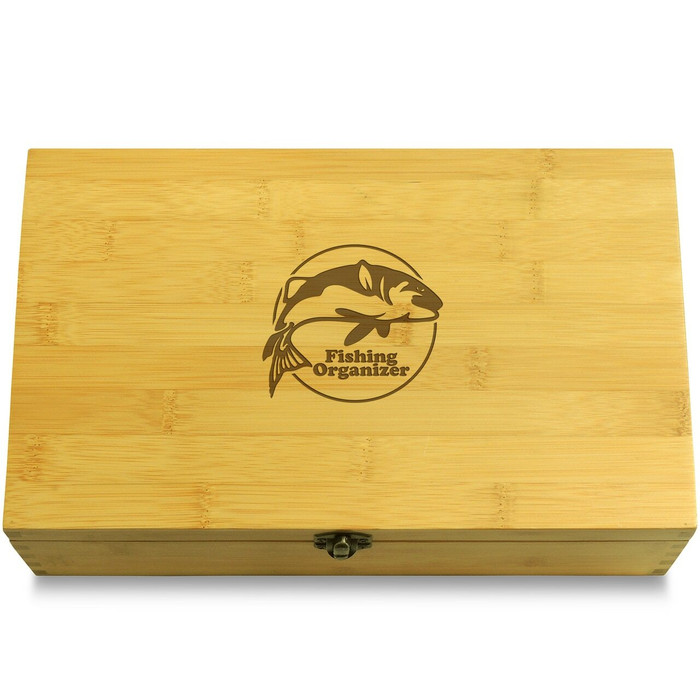 Fish Jumping Wooden Chest Lid