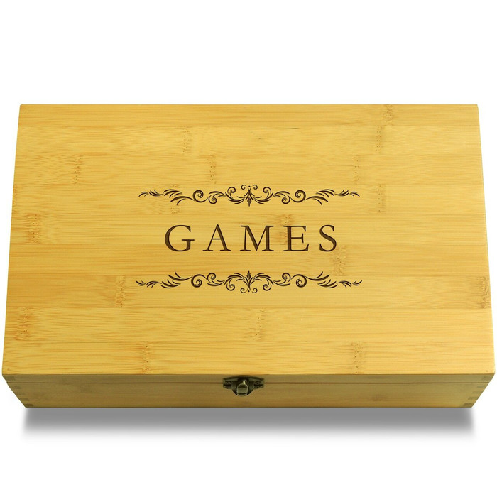Games Filigree Wood Chest Lid