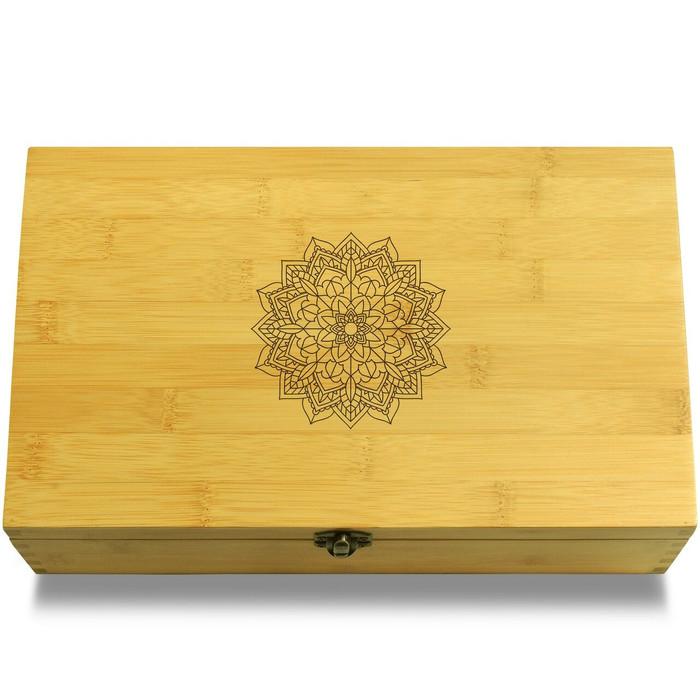 Flower Circle Mandala Symbol Multikeep Box Sustainable Organizer
