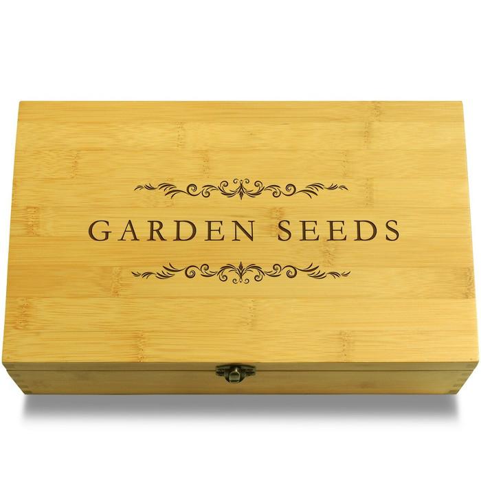 Garden Seeds Filigree Wooden Box Lid